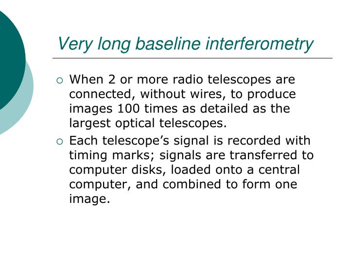 Very long baseline interferometry