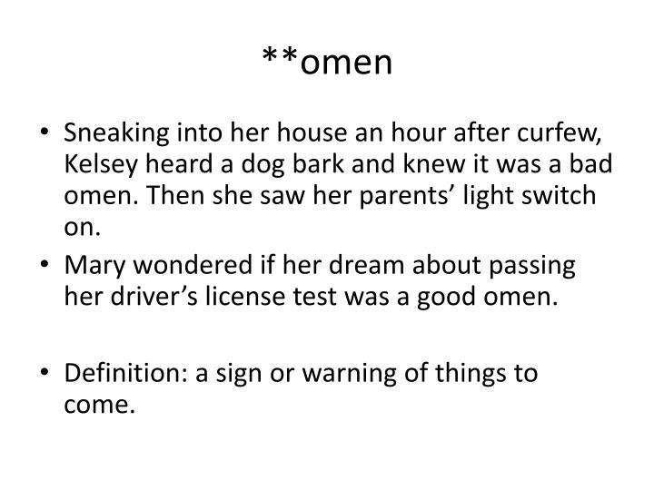 **omen