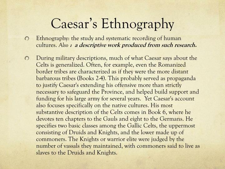 Caesar's Ethnography