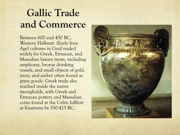 Gallic trade and commerce