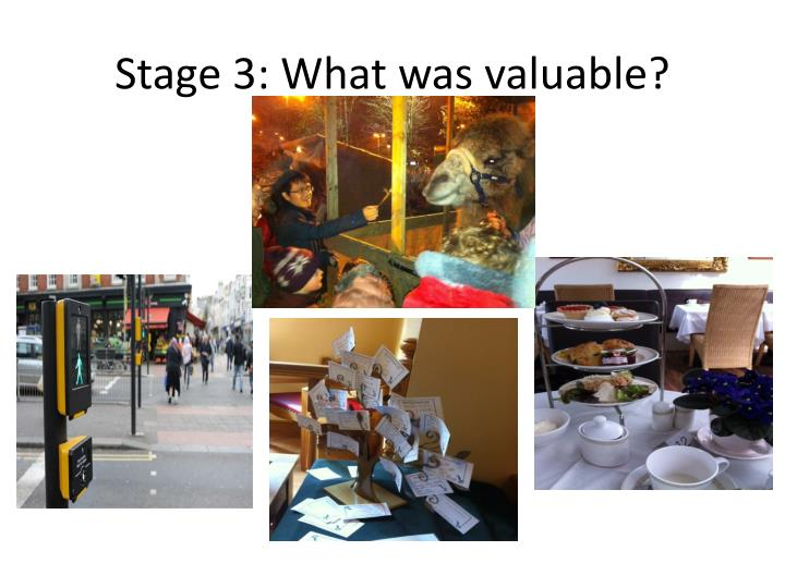 Stage 3: What was valuable?