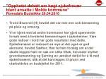 opphetet debatt om h gt sjukefrav r blant ansatte i molde kommune romsdals budstikke 26 04 2010