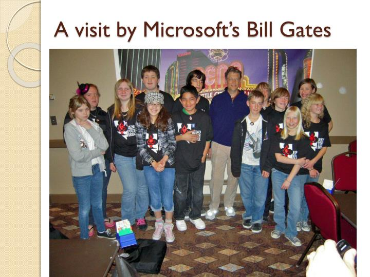 A visit by microsoft s bill gates
