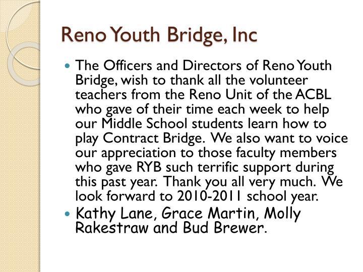 Reno Youth Bridge, Inc