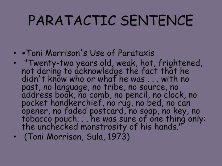 PARATACTIC SENTENCE