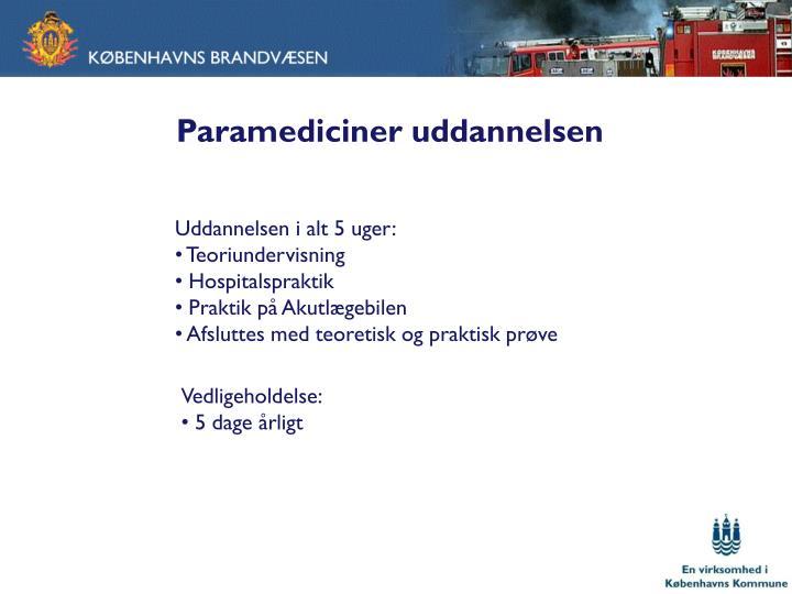 Paramediciner uddannelsen