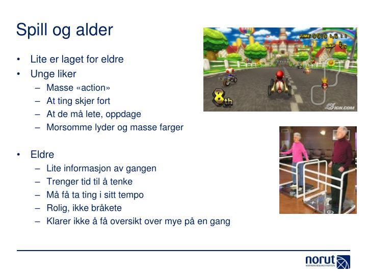 Spill og alder