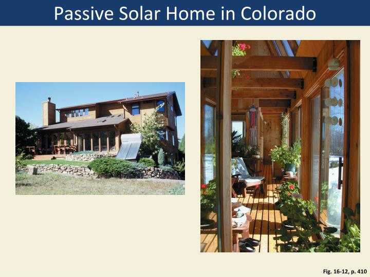 Passive Solar Home in Colorado