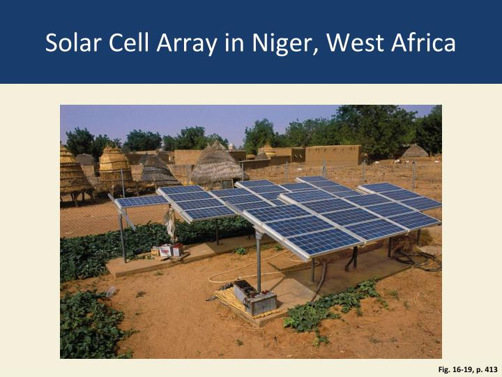 Solar Cell Array in Niger, West Africa