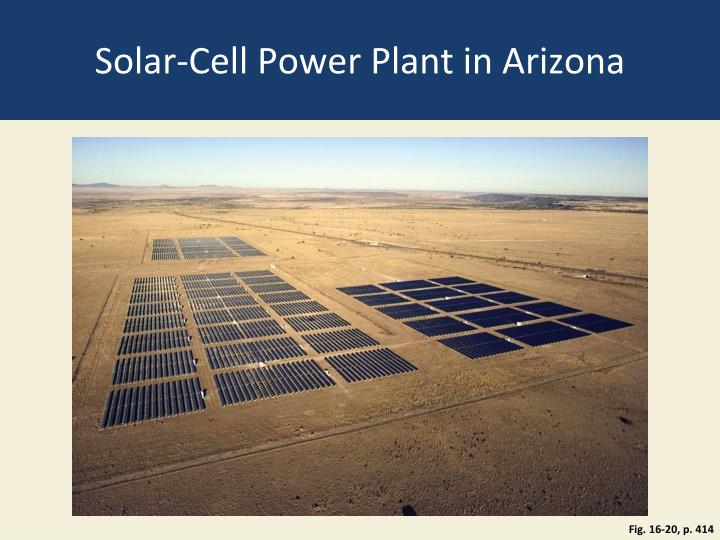 Solar-Cell Power Plant in Arizona