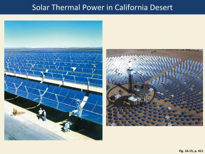 Solar Thermal Power in California Desert