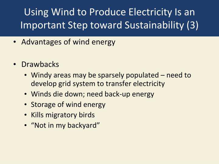 Using Wind to Produce Electricity Is an Important Step toward Sustainability (3)