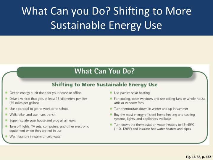 What Can you Do? Shifting to More Sustainable Energy Use