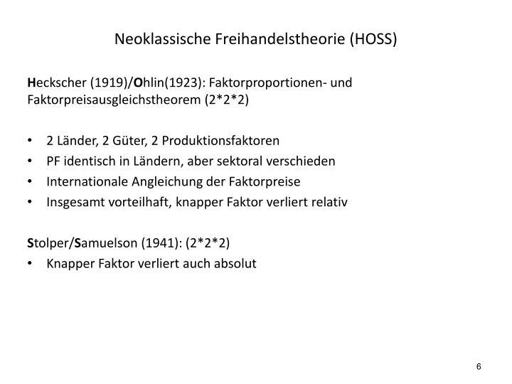 Neoklassische Freihandelstheorie (HOSS)