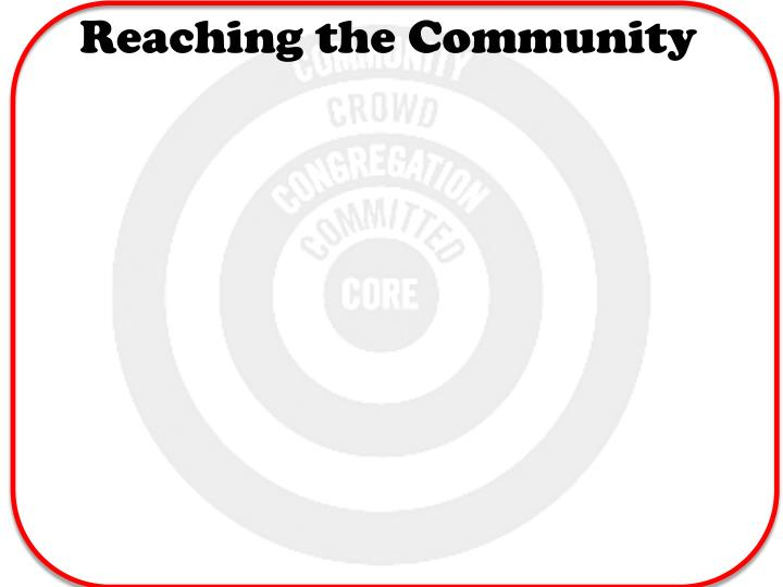 Reaching the Community