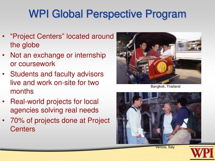 WPI Global Perspective Program