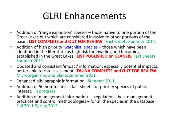 Glri enhancements