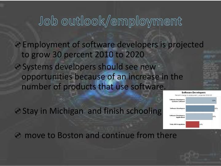 Job outlook/employment