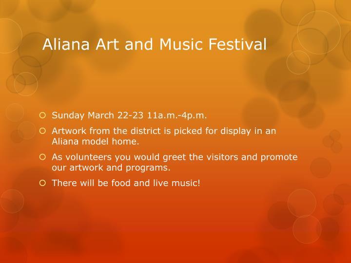 Aliana Art and Music Festival