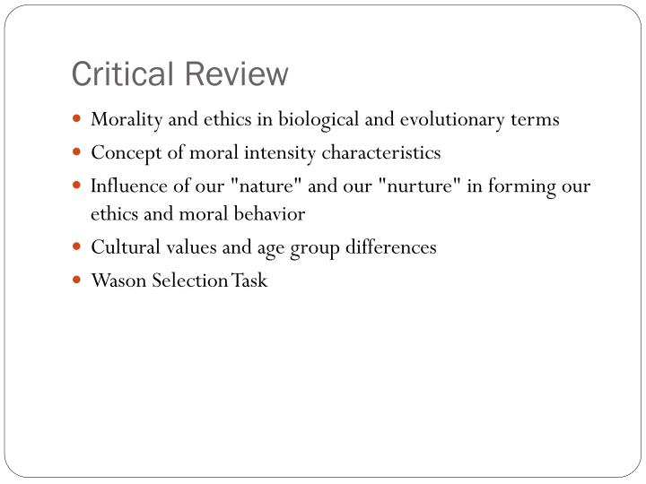 Critical Review