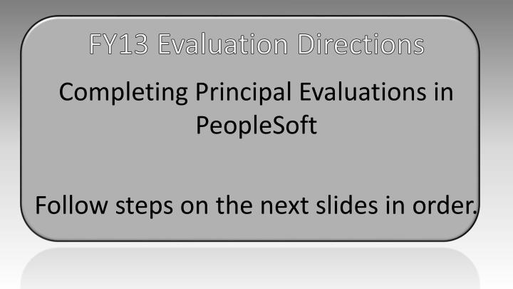 Fy13 evaluation directions