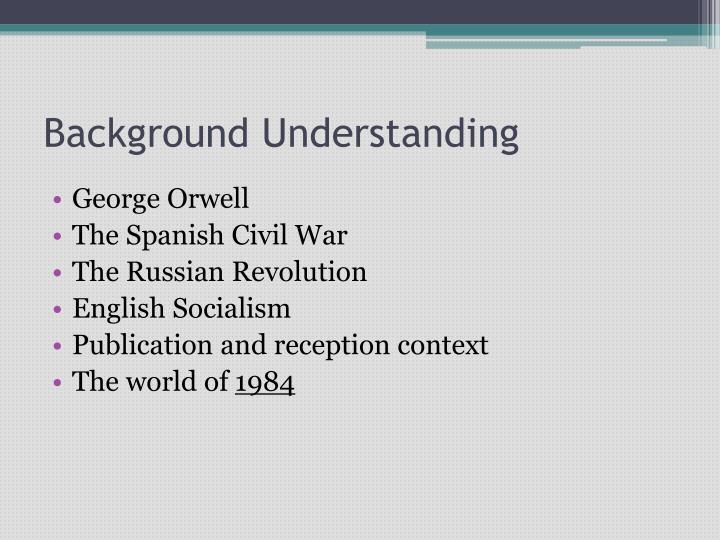 Background Understanding