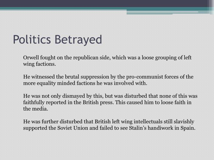 Politics Betrayed
