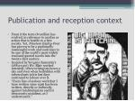 publication and reception context