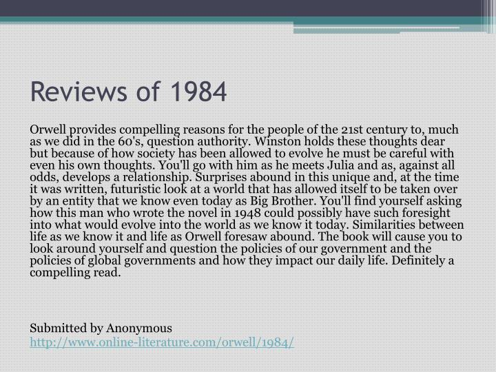 Reviews of 1984