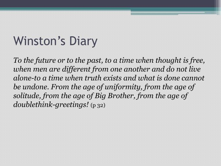Winston's Diary