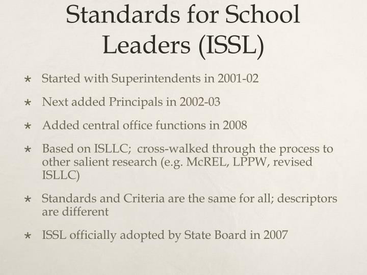 Development of Iowa Standards for School Leaders (ISSL)