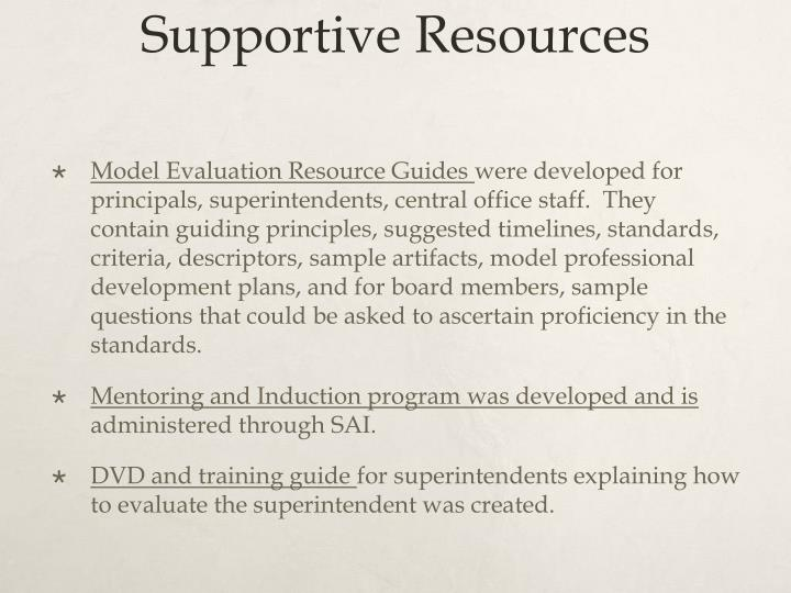 Supportive Resources