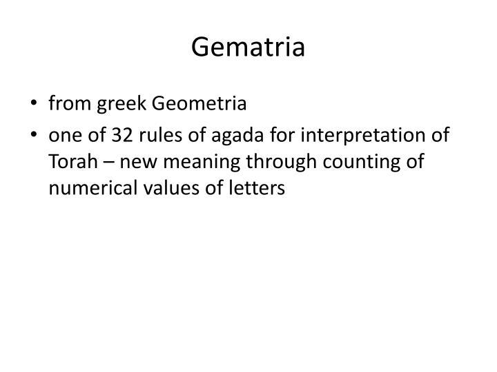 Gematria