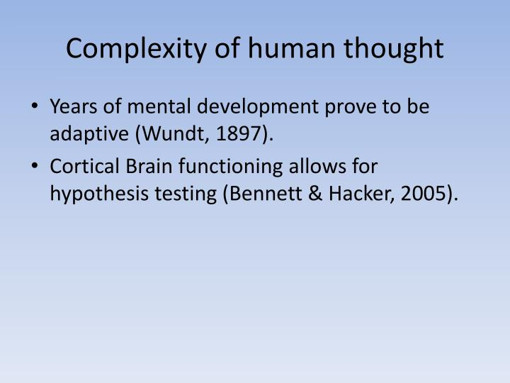 Complexity of human thought