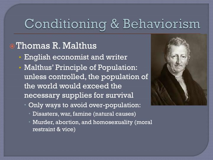 Conditioning & Behaviorism