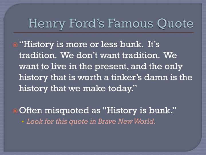 Henry Ford's Famous Quote