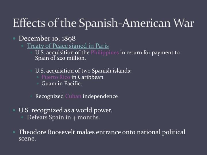 causes and consequences of the spanish american war Causes and impacts of the spanish–american war spain had no choice but to declare war on america and thus the spanish–american war officially began.