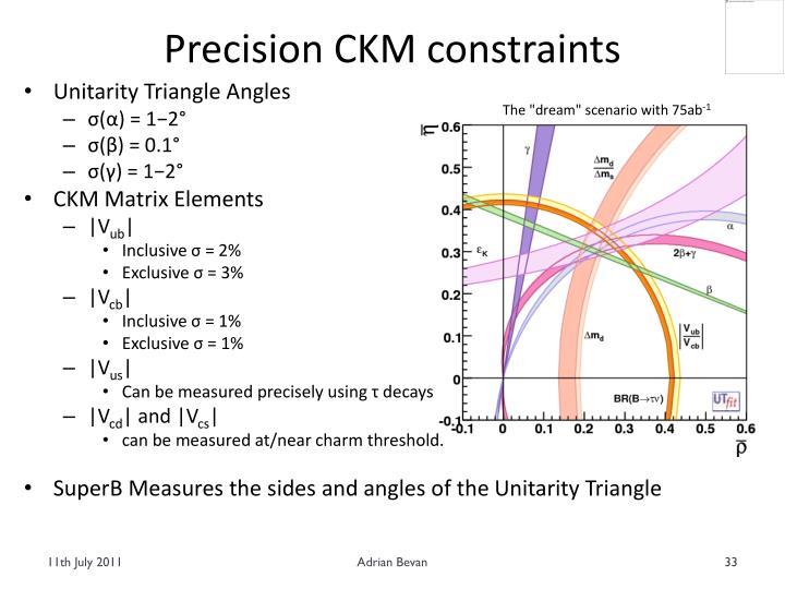 Precision CKM constraints