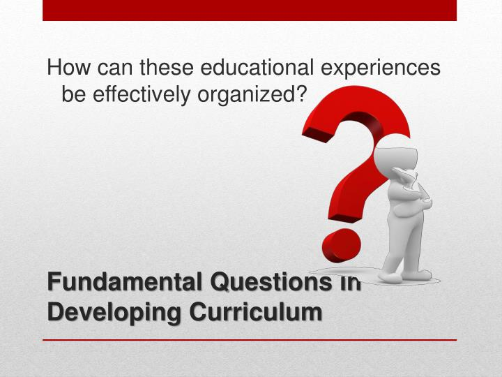 How can these educational experiences be effectively organized?