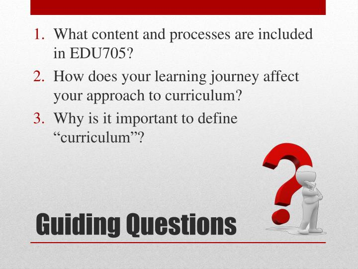 What content and processes are included in EDU705?