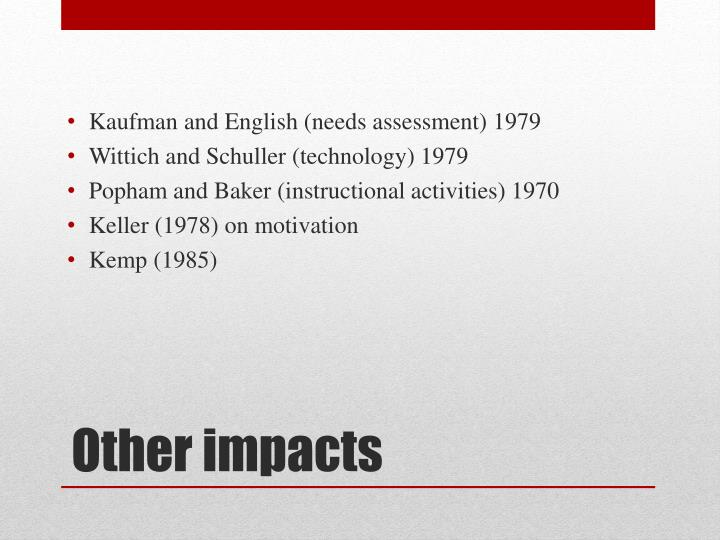 Kaufman and English (needs assessment) 1979