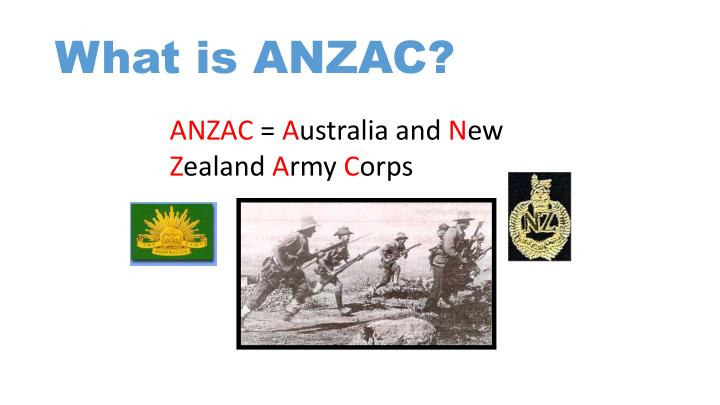 What is anzac