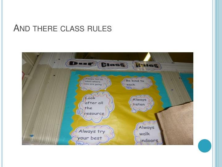 And there class rules