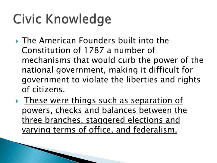 civic knowledge assignment Mr schemer's 7th grade civics parents to test your civics knowledge, 80% or higher classwork assignment classwork: civics mock scrimmage.