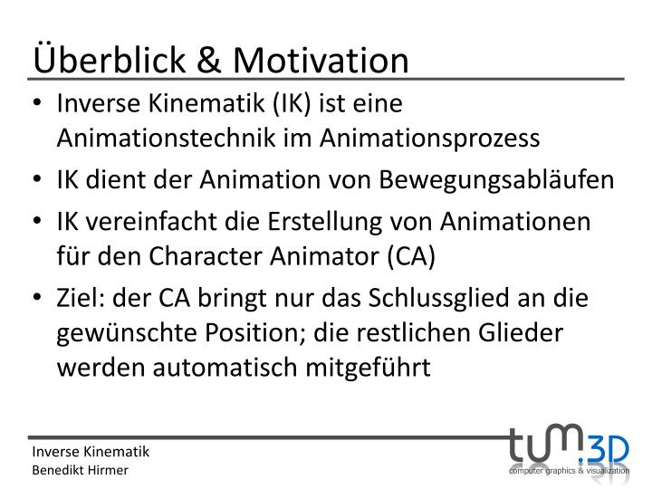 Überblick & Motivation