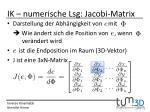 ik numerische lsg jacobi matrix
