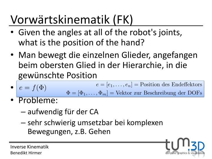 Vorwärtskinematik (FK)
