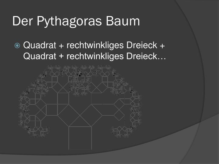 Der Pythagoras Baum