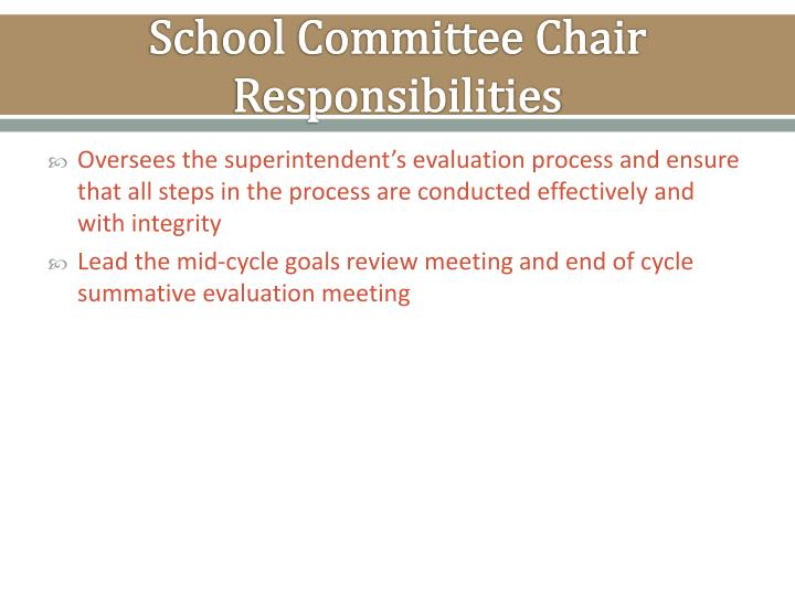 School Committee Chair