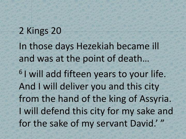 2 Kings 20